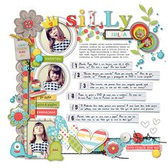 I like this idea, cute layout for a personality page