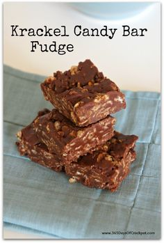 Krackel Candy Bar Fudge...like the candy bar except 100 times better. Only 6 ingredients and 10 minutes!