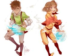 Air benders jinora and kai