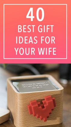 "Best gifts for your wife: gift ideas for your leading lady We put together a versatile list of top-tier gifts that will even more solidify that your wife married ""the one. Presents For Wife, Diy Presents, Christmas Gifts For Wife, Christmas Holidays, Subscription Gifts, Foam Pillows, Scratch Off, Your Wife, Romantic Gifts"