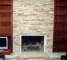 Quartzite Ledgestone Fireplace