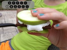 Good for camping?  Apple S'mores; taste just like apples from Rocky Mountain Chocolate Factory!!!  YUM!!