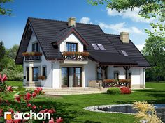 De Dream Home Design, Modern House Design, Model House Plan, House Plans, House Outside Design, Appartement Design, Prefabricated Houses, Cottage Style Homes, House Stairs