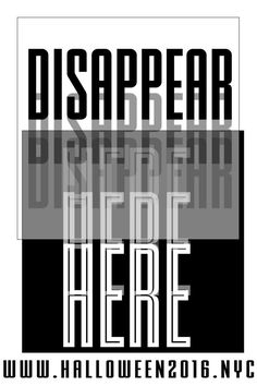 "Preview: Rinsed ""Disappear Here"" Fri-Sat. Oct 28-29 10pm-6am - Location TBA"