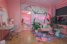 Pink Neon Photo Studio Rental Los Angeles — the urban jungle studio Neon Bedroom, Room Decor Bedroom, Pink Bedrooms, Bedroom Signs, Bedroom Ideas, My New Room, My Room, Studio Rental, Cute Room Decor
