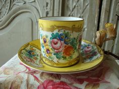 Antique Vintage French Porcelaine Coffee Cup