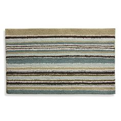 Lacey Blue and Brown Bath Rug - BedBathandBeyond.com