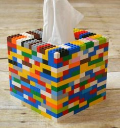 Is your house overrun with LEGOs? TheseCreative ways to build LEGOS will have you putting them to new and fun uses in no time! Is your house overrun with LEGOs? These creative ways to build legos will have you putting them to new and fun uses in no time! Upcycled Crafts, Tissue Box Covers, Tissue Boxes, Tissue Box Crafts, Deco Lego, Casa Lego, Diys, Lego Activities, Summer Activities