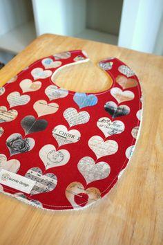Smart Hearts : Plastic Lined Bib.