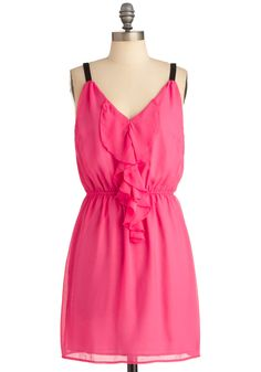 Look to the Fuchsia Dress ~ Modcloth Fuschia Dress, Bright Dress, Bright Pink, Skirt Fashion, Fashion Outfits, Queen Outfit, Cute Summer Dresses, Summer Clothes, Retro Vintage Dresses
