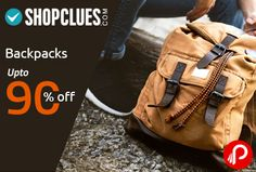 Shopclues Backpacks Special online is offering Upto 90% off on Backpacks. President, Skybags, SK Bags, Sky, Estrella Companero, Destiny, Tycoon, The North Face, MTC, Together with, Magnet, Lenovo, Wildcraft, Dell, HP, BAGSRUS, North Face. http://www.paisebachaoindia.com/backpacks-upto-90-off-shopclues/