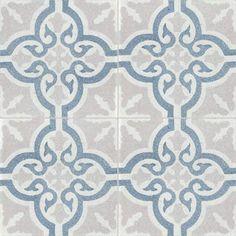 master shower Terrazzo - 20x20 patterns - cement tiles TROUVILLE TU07.10.15 - Couleurs & Matières