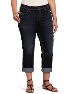 Silver Jeans Juniors Suki Curvy Fit Capri. $85
