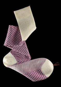 William Abraham - Luxury Socks for Men ● CRIMSON / CREAM