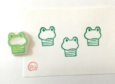 BORED FROG - Hand Carved Rubber Stamps/Animals/Reptile by KeiWorkshop on Etsy https://www.etsy.com/hk-en/listing/288771485/bored-frog-hand-carved-rubber