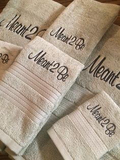 A personal favorite from my Etsy shop https://www.etsy.com/listing/488642532/monogrammed-towel-set