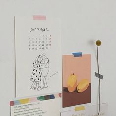 Puuung Illustration Set 2018 Diary Postcard /& Notebook Monthly Wall Frame
