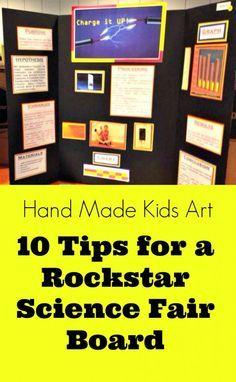 Science Fair Projects: How to make your board a rockstar standout from Hand Made Kids Art  #handmadekidsart #sciencefair