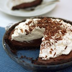 Chocolate Cream Pie with Chocolate Pecan Crust