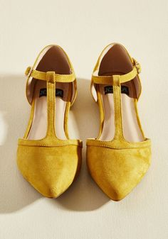 Turn Back Prime Vegan Flat in Marigold | ModCloth