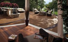 Dozens of deck pictures to jumpstart your own deck designs and ideas, featuring high-performance Trex composite decking, railing, lighting, and Deck With Pergola, Diy Pergola, Deck Patio, Patio Design, Exterior Design, Outdoor Rooms, Outdoor Living, Deck Pictures, Cool Deck