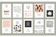 Graphic Design - Graphic Design Ideas  - Check out Marker textures+25 cards by Lera Efremova on Creative Market   Graphic Design Ideas :     – Picture :     – Description  Check out Marker textures+25 cards by Lera Efremova on Creative Market  -Read More –