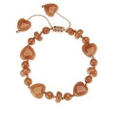 Lola Rose Lollie Heart And Roundel Bead Bracelet