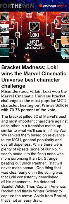 I know, I'm awesome. (Thankyoutoallmyfans-Loki)