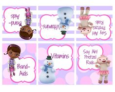 8 Best Images of Doc McStuffins Party Printables - Doc McStuffins Free Printables, Doc McStuffins Free Printables and Doc McStuffins Party Printables Free Third Birthday, 4th Birthday Parties, Birthday Ideas, Free Birthday, Doc Mcstuffins Birthday Party, Bday Girl, Party Printables, Free Printables, Food Labels