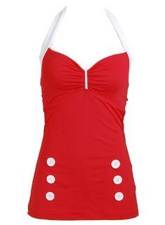 Red Vintage Retro Pin up Rockabilly Women's Bathing Suit Swimsuit Swimwear - Large PinupClothingOnline,http://www.amazon.com/dp/B00DAFT73S/ref=cm_sw_r_pi_dp_HAYDsb1CTNHFV11R