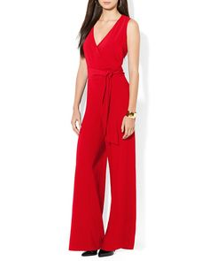 Red jumpsuit. Love this color. http://rstyle.me/n/unae6zqm6