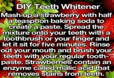 DIY Teeth Whitener  You can do this once or twice a week, works like a charm! Don't forget to click SHARE