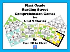 This is a set of comprehension games for the stories in the first grade level of the Reading Street program. It contains one self-checking partner ...