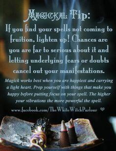 Magickal Tips & Hints