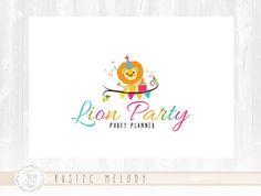 Children Logo Design Lion Logo Childcare  Logo Party Logo  Boutique Logo Kids Logo Watermark Photography Logo