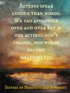 Actions actions so important to     change