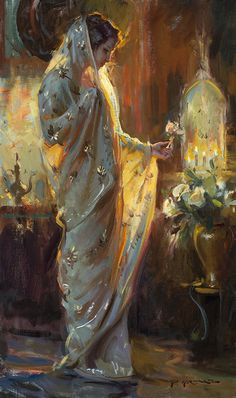Offering by Dan Gerhartz ~ 30 x 18 Classical Art, Renaissance Art, Pretty Art, Aesthetic Art, Beautiful Paintings, Romantic Paintings, Oeuvre D'art, Art Inspo, Art Reference