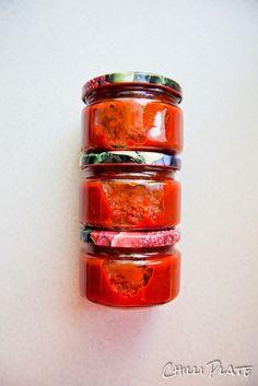 Paprykowy keczup - paprykowy sos w słoikach na zimę