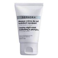 Masque crème de nuit hydratant repulpant - Acide hyaluronique de Sephora sur Sephora.fr