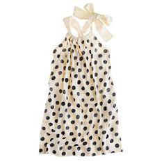 J. Crew Girls' bow-back dress in polka dot