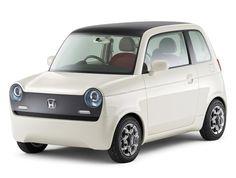 Honda EV-N what an adorable little car. Love the interior.