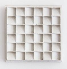 blueberrymodern:    Jan Schoonhoven - Dutch artist painted cardboard