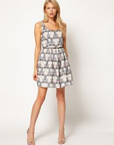 perfect for my bff's bridal shower. oasis tulip cotton dress.