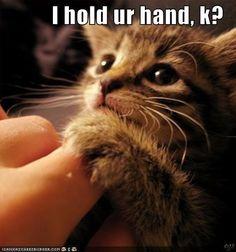 i hold ur hand, k ?
