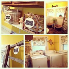 """I finished my laundry room!...NEED TO HAVE A """"RAG BAG"""" IN THE LAUNDRY FOR WET RAGS...MAYBE A SMALL PLASTIC WASTE BASKET BESIDE WASHER"""