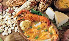 Chupe de camarones, comida peruana =D