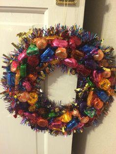 Quality Street Chocolate Wreath