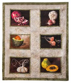 Elegant Edibles by Jennifer Day. 2015 Food for Thought exhibit.SAQA Member Art