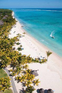 La plage du Dinarobin Hotel à l'île Maurice ! #Maurice #Mauritius