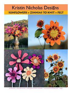 Kristin Nicholas Designs/ Sunflowers-Zinnias to knit and felt